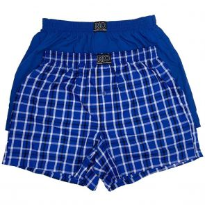RIO Mens Woven Trunk 2-Pack MXQX2W Blue/Blue Checks