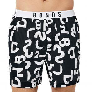 Bonds Sleep Woven Boxer MXR4A Black and White