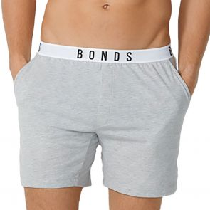 Bonds Sleep Jersey Shorts MXR7A New Grey Marle