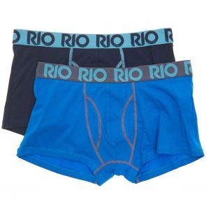 RIO Mens Cotton Stretch Trunks 2-Pack MY7E2W Multi