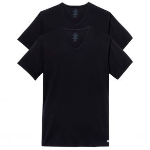 Calvin Klein Cotton Stretch V Neck Tee 2-Pack NB1179 Black