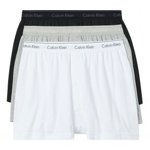 Calvin Klein Cotton Classics 3 Pack Knit Boxers NB4005 Black/White/Grey