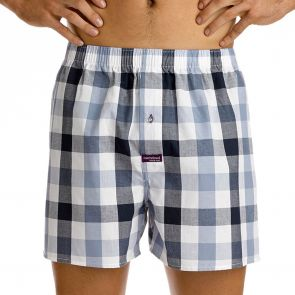 Mitch Dowd Picket Check Boxershort White Q1237