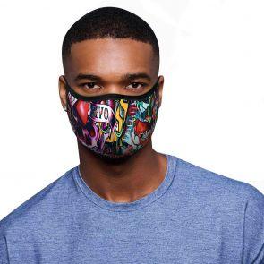 Rolling Skulls DefenderSkull Reusable 2-Layer Face Mask MSK02 Tattoo