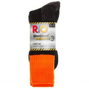 Rio No Hole Work Crew 3-Pack S74583 Fluro Orange