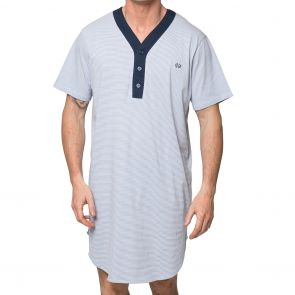 Coast Short Sleeve Stripe Nightshirt 18CCS320 Navy and Grey