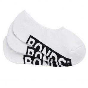 Bonds Mens Logo Cushioned Sneaker 3-Pack SXMV3N White