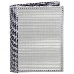 Stewart Stand TriFold ID Stainless Steel Wallet TF3101 Silver Checkered