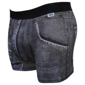 Sly Underwear Torn Denim Trunks BUWTND Black