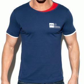 ES Collection Double Neck T-Shirt TS246 Navy