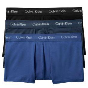 Calvin Klein Cotton Stretch Classic Fit Low Rise Trunk 3-Pack BU2664 Black/Blue Pack