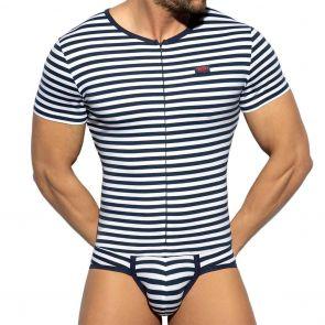 ES Collection Cotton Bodysuit UN486 Navy Sailor
