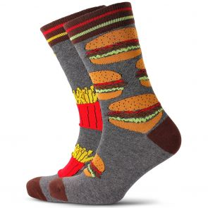 Mitch Dowd Burgers & Fries Odd Socks XMDM604 Multi