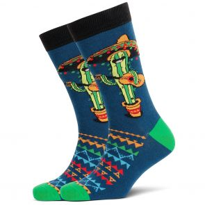 Mitch Dowd Singing Cactus Crew Socks XMDM680 Multi