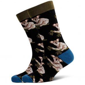 Mitch Dowd Koala Jacquard Crew Socks XMDM698 Multi