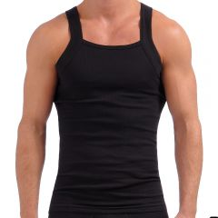 2xist Essentials Square Cut Tank Top 3100102703 Black Mens Tops