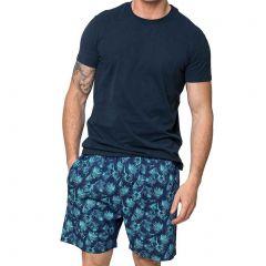 Coast Under The Palms PJ Set Knit/Woven 18CCS306 Green/Navy Mens Sleepwear