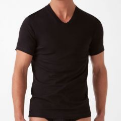 2xist Essentials V-Neck T-Shirt 3 Pack 20331 Black Mens Tops