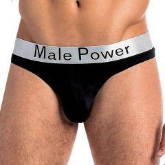 Male Power Peep Show Lo Rise Thong 438-223 Black Mens Underwear