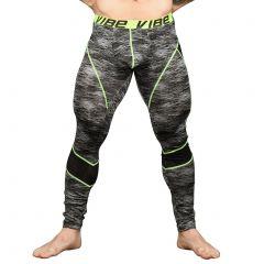 Andrew Christian Vibe Frequency Legging W / Mesh 91162 Black/Grey Print Mens Underwear