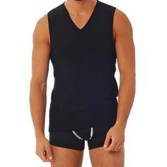 Doreanse VNeck Athletic Tank 2210 Black Mens T-Shirt