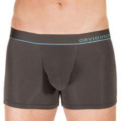 Obviously PrimeMan Boxer Brief 3 Inch Leg Titanium Mens Underwear