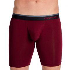 Obviously PrimeMan Boxer Brief 9 Inch Leg A01 Maroon Mens Underwear