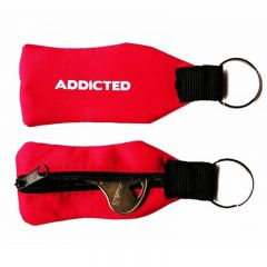 Addicted Zipper Key Ring AC030 Red Mens Accessories