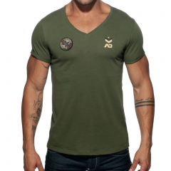 Addicted Military T-Shirt AD610 Khaki Mens Underwear