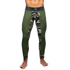 Addicted Camo-RibLong John AD781 Green Camo Mens Underwear