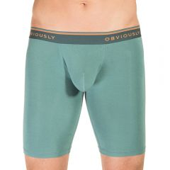 Obviously EveryMan Boxer Brief 9 Inch Leg B01 Teal Mens Underwear
