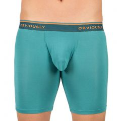 Obviously EveryMan Boxer Brief 6 Inch Leg B09 Teal Mens Underwear