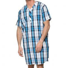 Coast Short Sleeve Woven Nightshirt 18CCS333 Blue Check