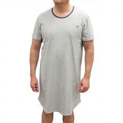 Coast Cotton Knit Night Shirt NSK01 Grey Marle Mens Sleep Wear