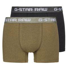 G-Star Raw Classic Heather Trunks 2 Pack D03507 2058 Sage/Black Mens Underwear