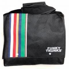 Funky Trunks Striped Messenger Satchel Bag Black
