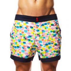 Hey Franky Circuit Beach Shorts Bubbles HF0165 Multi Mens Shorts
