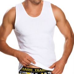 Tradie Big Fella Singlet MJ1959SC White Mens Underwear