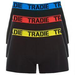 Tradie 3 Pack Fitted Trunks MJ1194WK Brights Mens Underwear