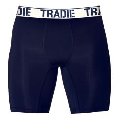 Tradie Big Fella Long Leg Boxer Briefs MJ1955SK Navy and White Mens Underwear