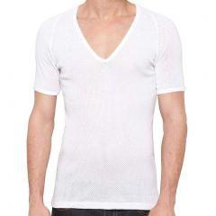 Bonds Coral Island V-Neck Undertee MXQ8A White Mens T-shirt