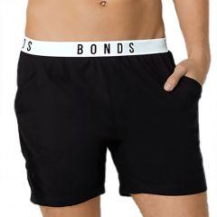 Bonds Sleep Jersey Shorts MXR7A Nu Black Mens Sleepwear