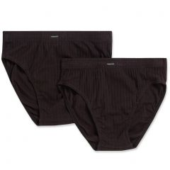 Holeproof Cotton Mock Rib Brief 2-Pack MZZX2A Black Mens Underwear