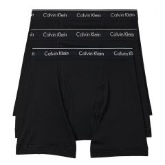 Calvin Klein Cotton Classics 3 Pack Boxer Briefs NB4003 Black Mens Underwear