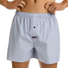 Mitch Dowd Mini Pin Stripe Yarn Dyed Boxer Q1897 Light Navy/White Mens Underwear