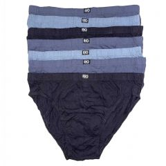 Rio Plain Hipster Brief 7-Pack MXL47W Black/Grey Mens Underwear