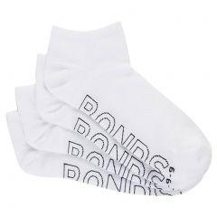 Bonds Logo Light Trainer 4 Pack Socks SYAP4N White Mens Underwear