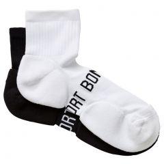 Bonds Mens Ultimate Comfort Quarter Crew 2 Pack SZFJ2N Black and White Mens Socks
