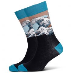 Mitch Dowd The Great Wave Jacquard Crew Socks XMDM540 Multi Mens Socks
