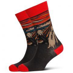 Mitch Dowd The Scream Jacquard Crew Socks XMDM545 Multi Mens Socks